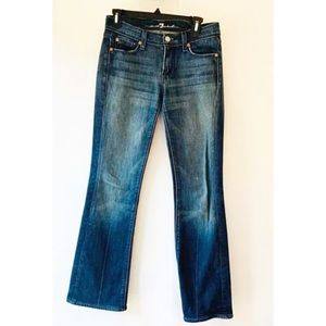 7 For All Mankind Womens Boot Cut Jeans Mia 27